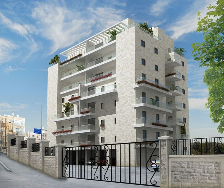 Shaul HaMelech 63, Jerusalem - After implementation of Tama 38 project