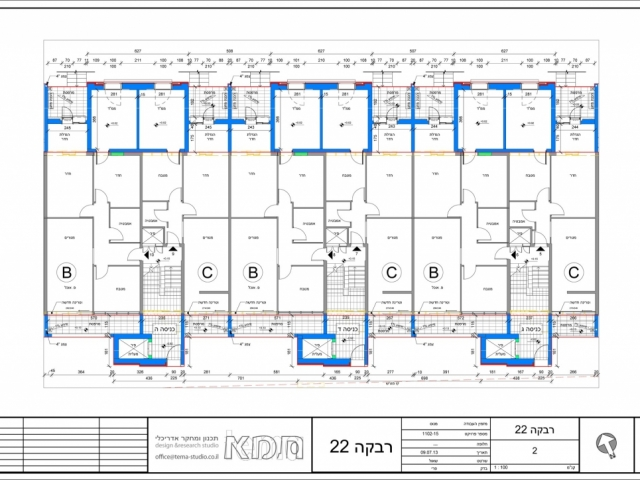 Rivka 22, Jerusalem – Typical floor plan, entrances C-E