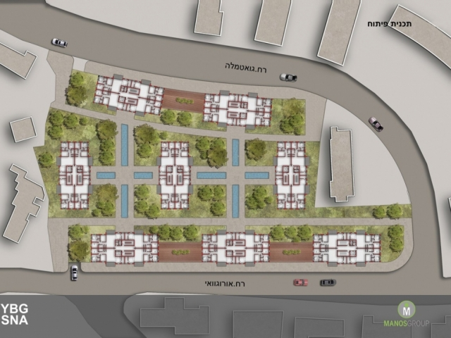 Pinui Binui à Jérusalem – Uruguay, Kiryat Ha'Yovel – Plan de développement