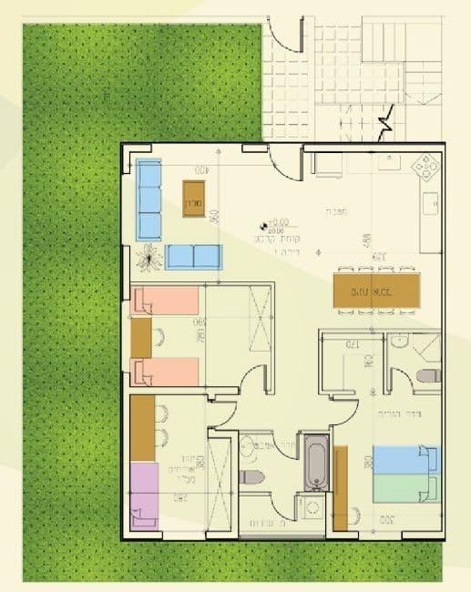 אלומה הירוקה - תוכנית דירה טיפוסית