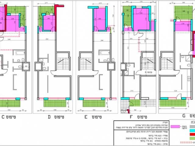 קומה טיפוסית של פרויקט תמא 38 - תקריב