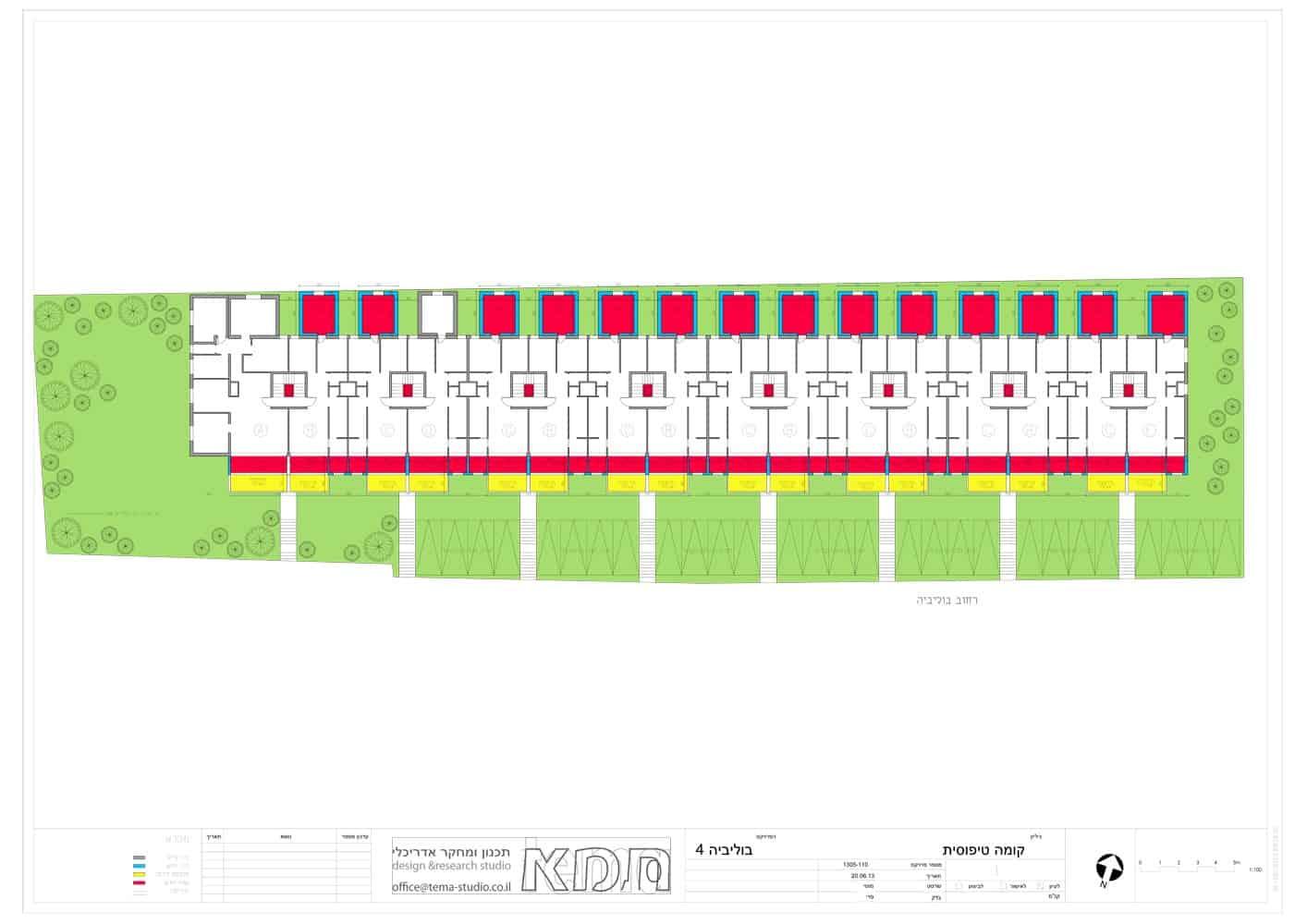 בוליביה 4, ירושלים - תוכנית קומה טיפוסית