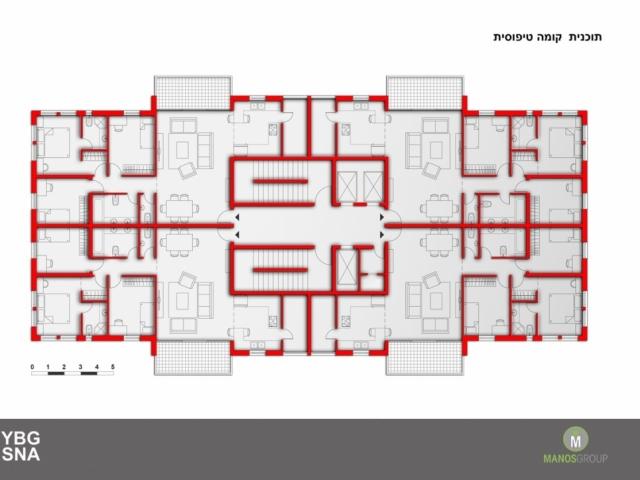 פינוי בינוי בירושלים - תכנית קומה טיפוסית במתחם ברזיל, קרית היובל