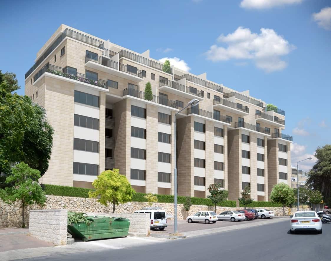 דהומיי 10, ירושלים - הדמיה אחרי יישום פרויקט תמא 38