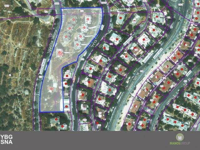 פינוי בינוי בירושלים - מתחם ברזיל, קרית היובל - GIS