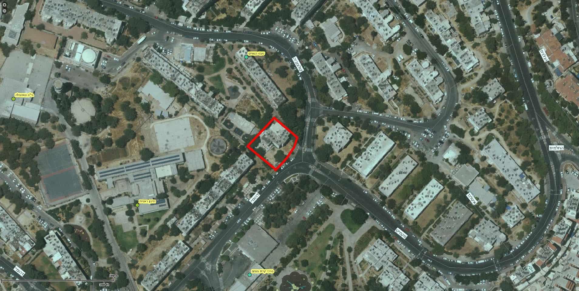 """פרויקט תמ""""א 38 - דהומיי 2, ירושלים - GIS"""