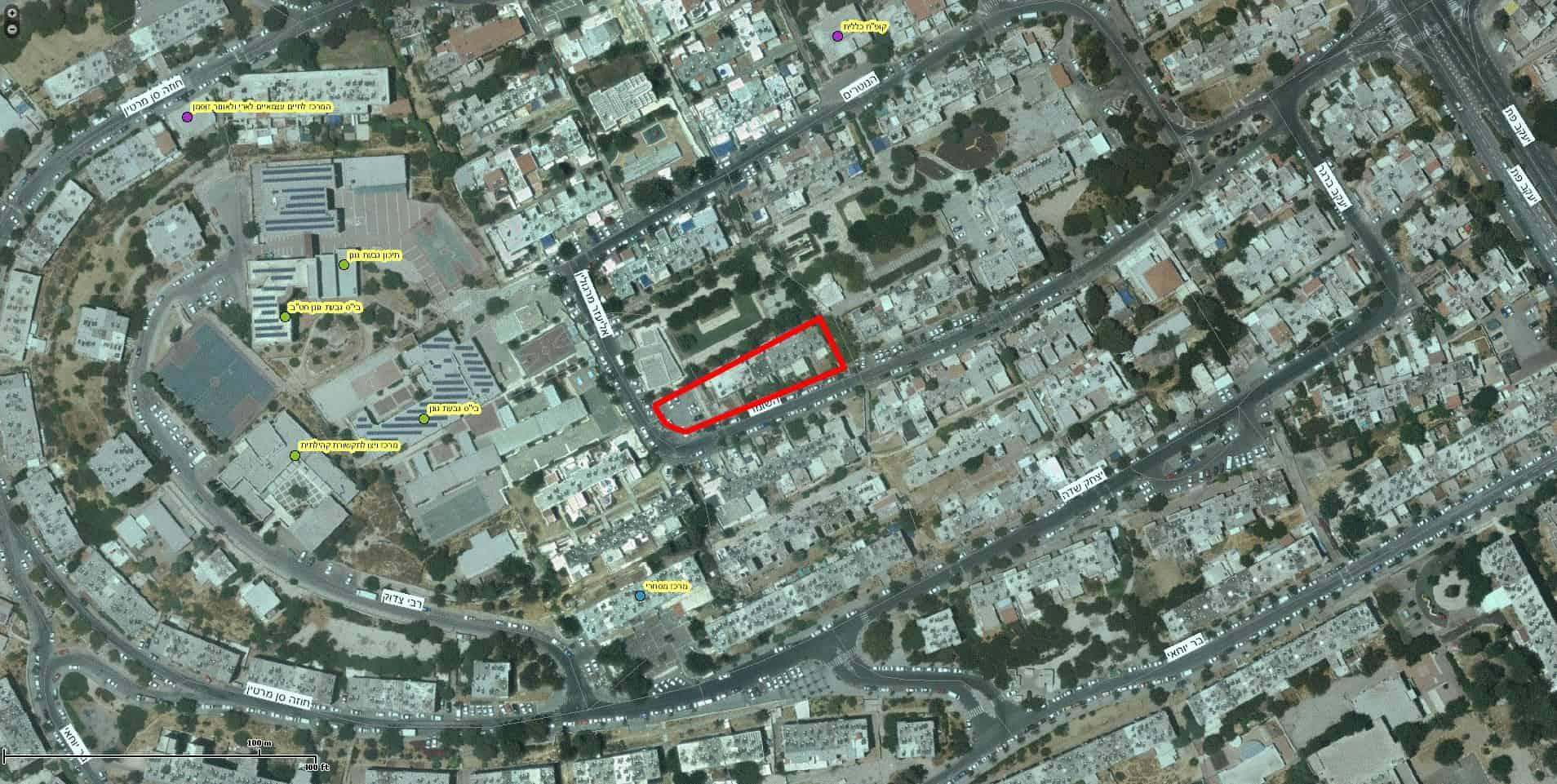 פרויקט תמא 38 בירושלים - השומר 10, ירושלים - GIS