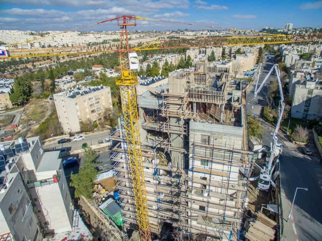 """פרויקט תמ""""א 38 בירושלים – שאול המלך 63 – בשלבי עבודה"""