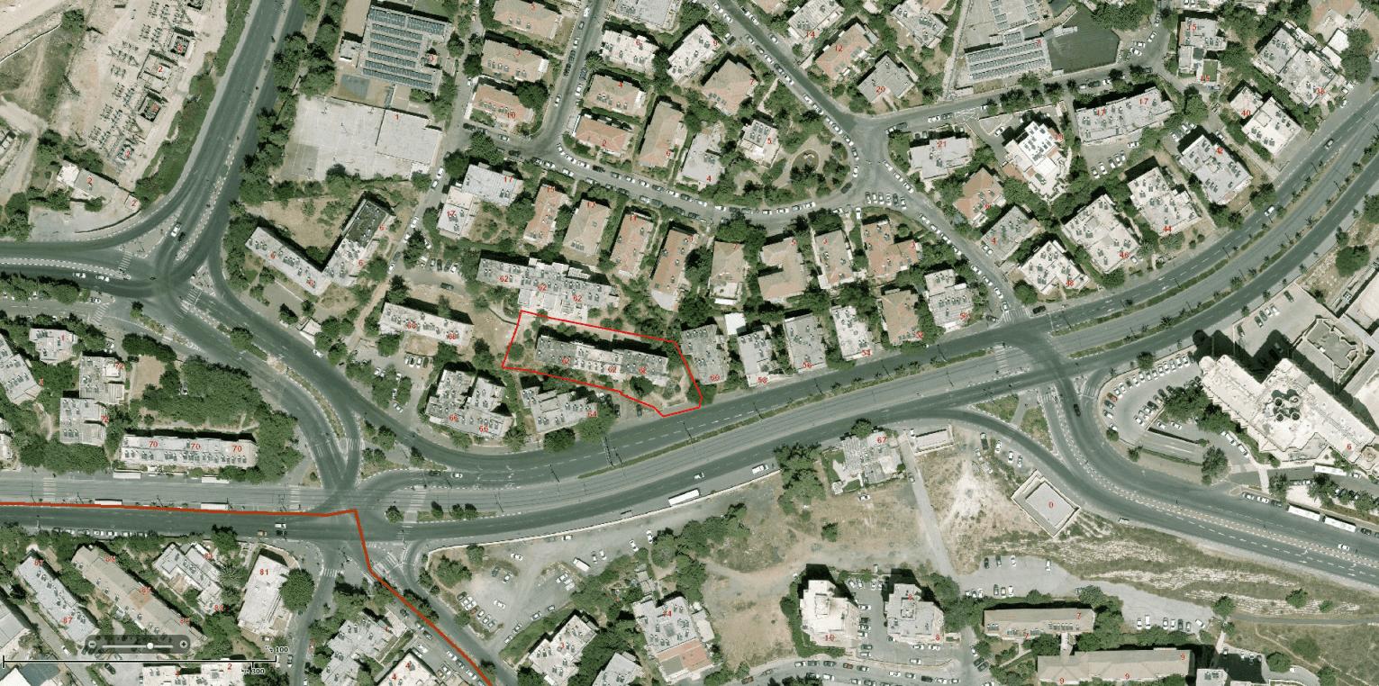 """הרצל 62 - פרויקט תמ""""א 38 בירושלים - GIS"""