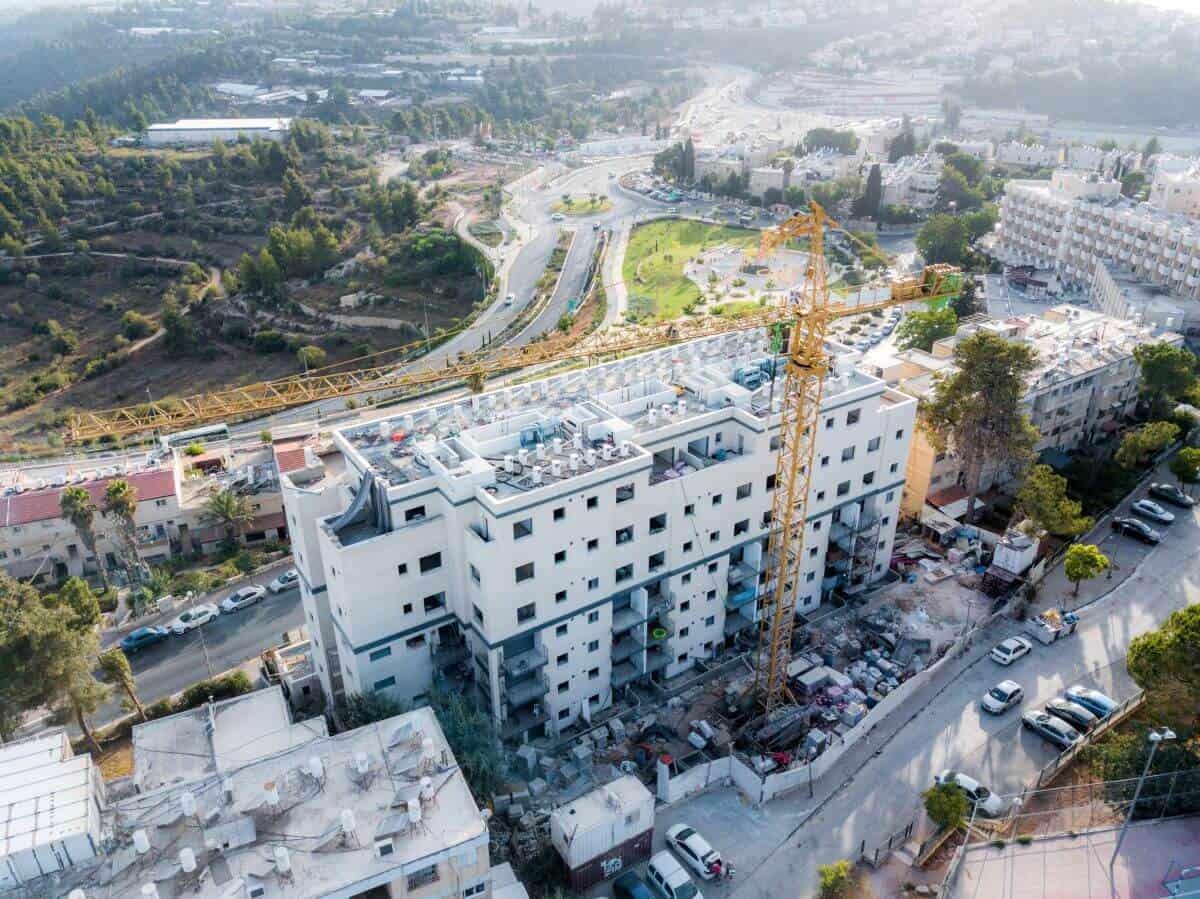 דהומיי 10 - פרויקט תמא 38 בירושלים - בשלבי בנייה
