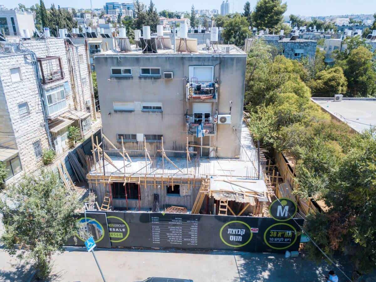 """פרויקט תמ""""א 38 בירושלים - ריש לקיש 10 - בשלבי בנייה"""