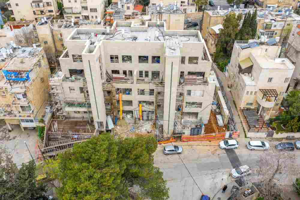 פרויקט תמ״א 38 - אבא חלקיה 5 - שלבי בנייה