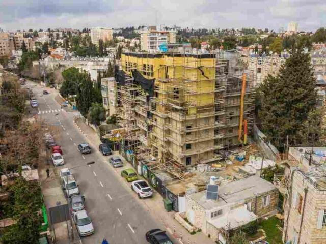 פרויקט תמ״א 38 בירושלים - אלעזר המודעי 4 - שלבי בנייה