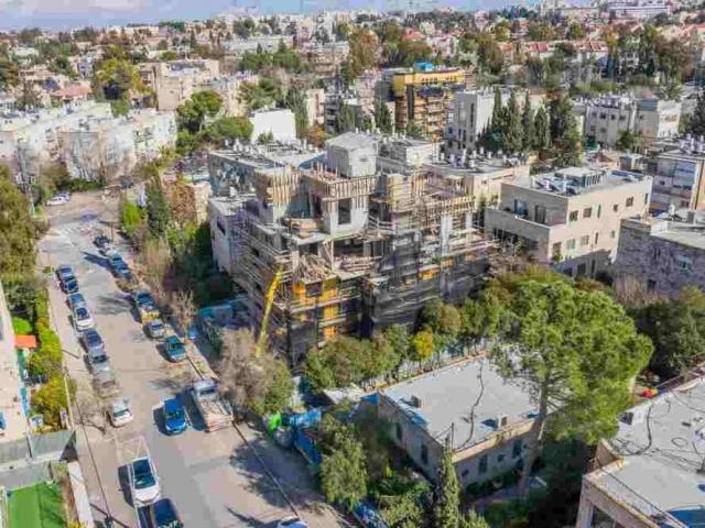 Rish Lakish 10 – Travaux de construction - Projet TAMA 38 a Jérusalem