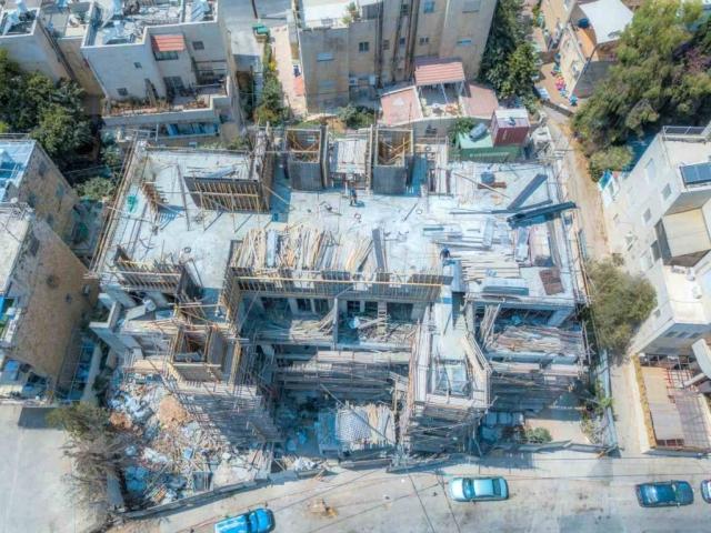 """פרויקט תמ""""א 38 בירושלים - אבא חלקיה 5 - בשלבי בנייה"""