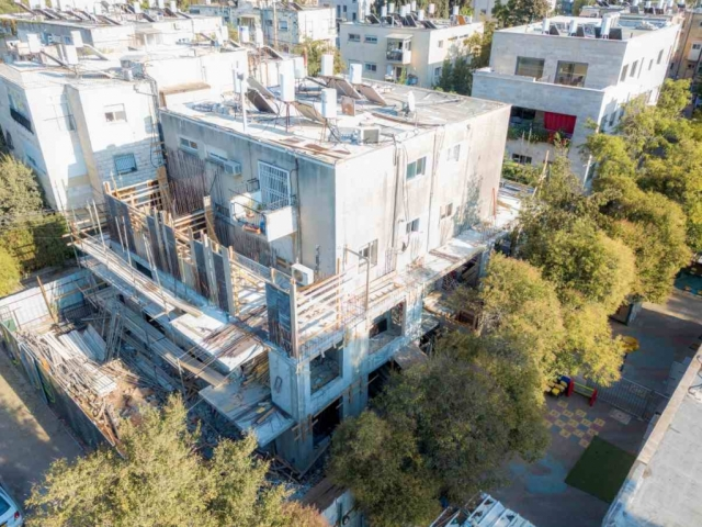 """תמ""""א 38 בירושלים - ריש לקיש 10 - בשלבי בנייה"""