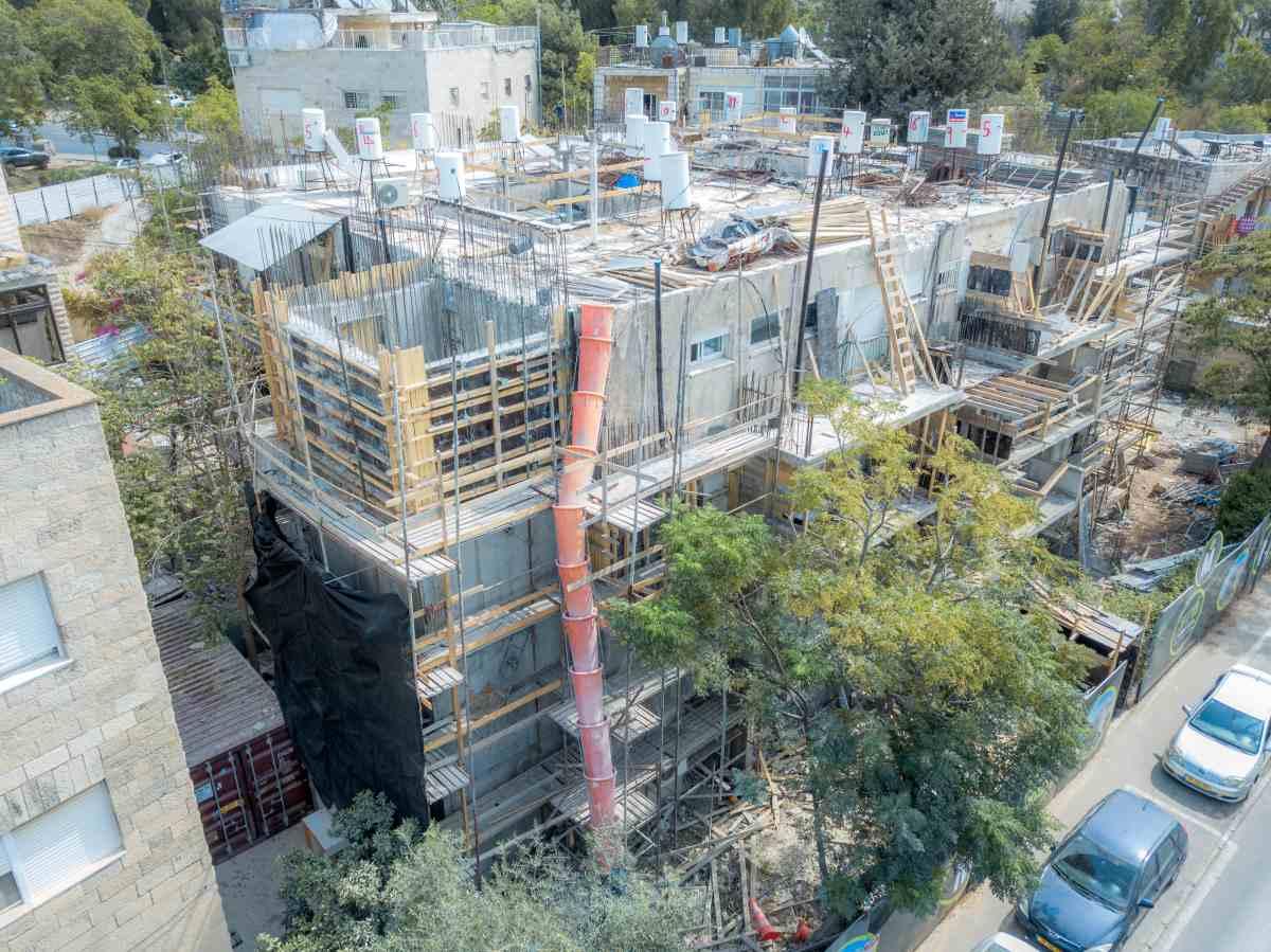 """פרויקט תמ""""א 38 בירושלים - אלעזר המודעי 4 - שלבי בנייה"""