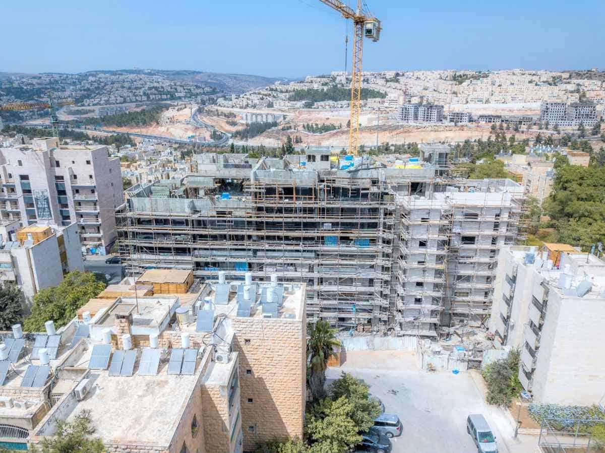 """פרויקט תמ""""א 38 בירושלים - ים סוף 5  – בשלבי בנייה"""