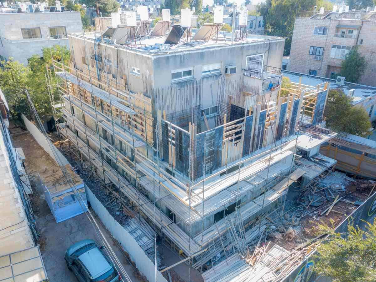 """פרויקט תמ""""א 38 בירושלים - ריש לקיש 10 - בשלבי עבודה"""