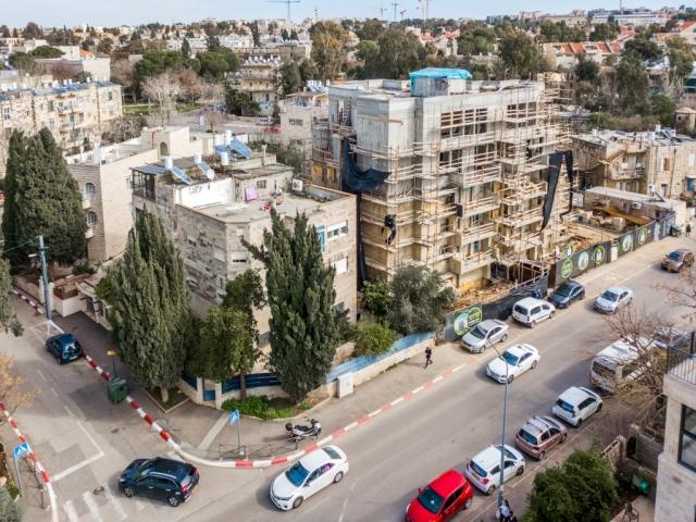 אלעזר המודעי 4 פרויקט תמ״א 38 בירושלים - שלבי בנייה
