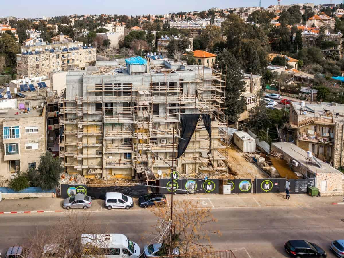 ֿאלעזר המודעי 4 - פרויקט תמ״א 38 בירושלים שלבי בנייה
