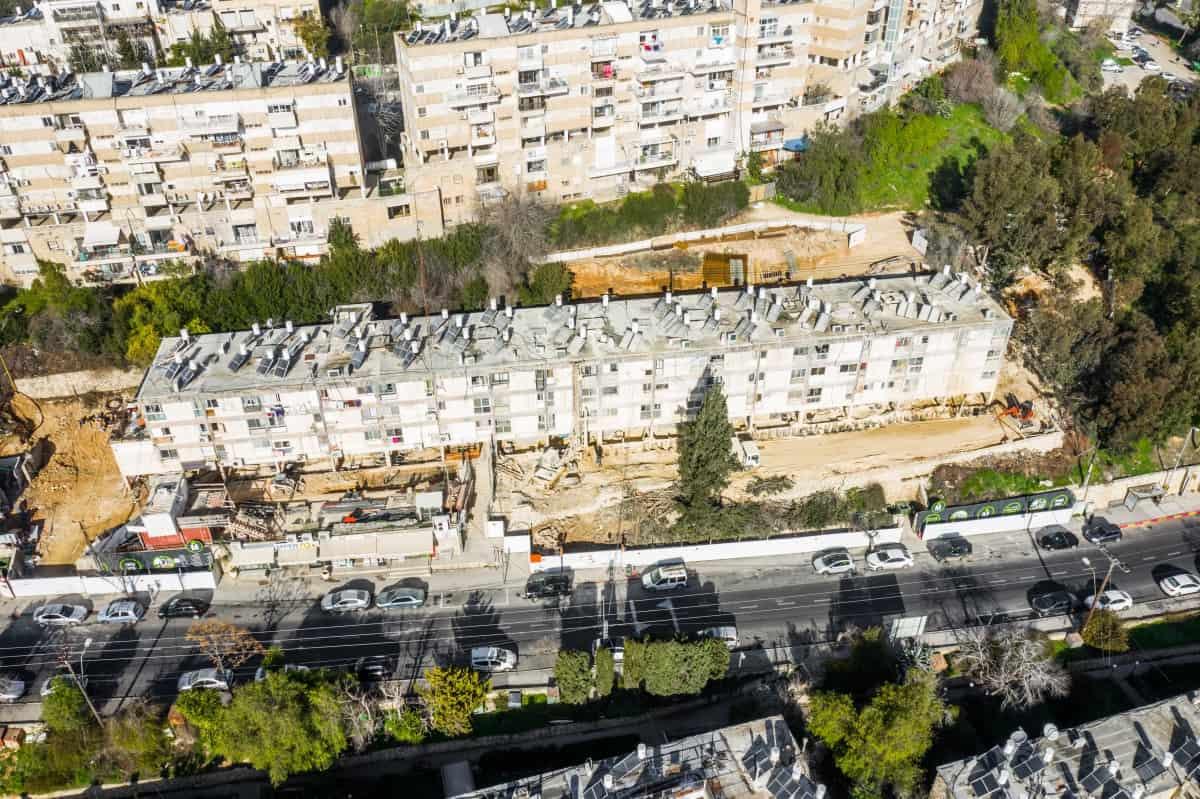 שלבי בנייה בפרויקט תמ״א 38 בירושלים - בוליביה 4
